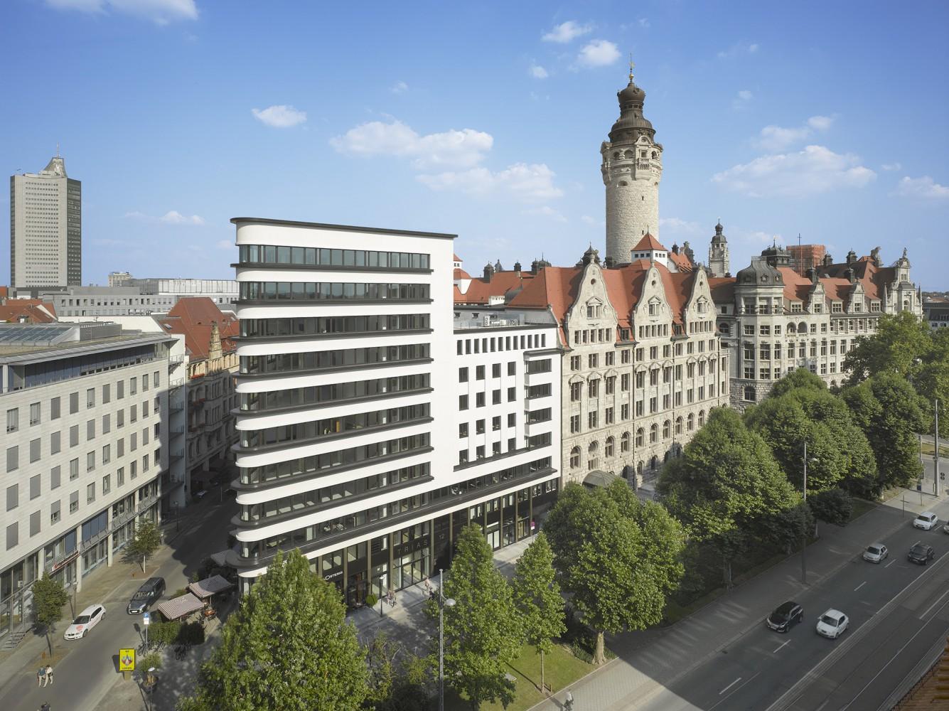 B ro und gesch ftshaus trias schulz und schulz for Designhotel leipzig